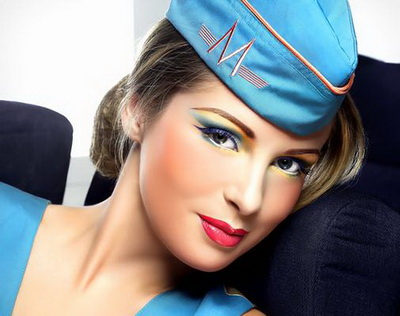 Красивый макияж для голубых глаз.