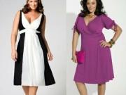 Современные модели платьев для полных женщин