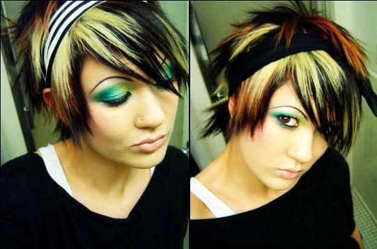 эмо макияж, как сделать эмо макияж, эмо макияж фото
