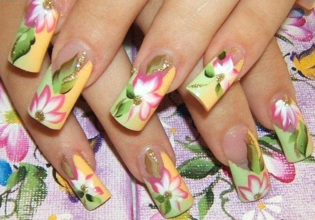 Рисунки на ногти акрилом